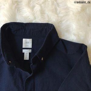 H&M Dark Blue Oxford